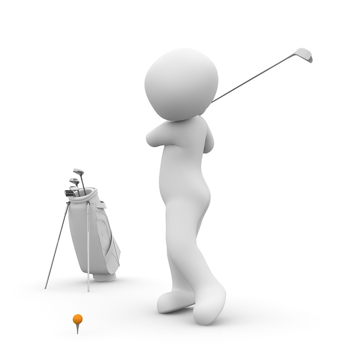 ゴルフのスイングで肩を痛める