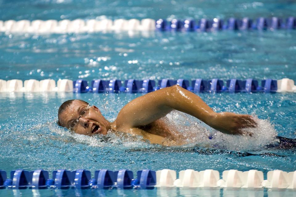 水泳選手は肩幅が広い